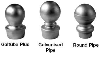 Balls - Round Pipe - Aluminium