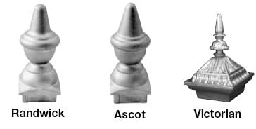 Decorative Post Caps - Aluminium