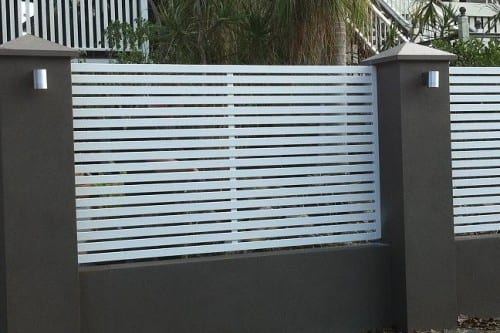 aluminium and Brick fence brisbane