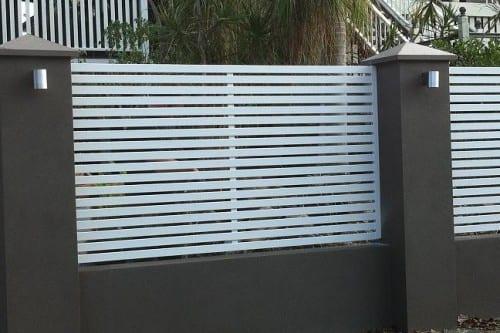 aluminium and Brick fence brisbane