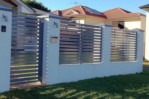 Brick pier fence
