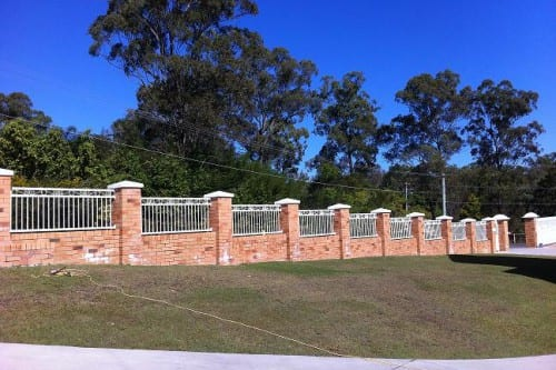 Brick and Aluminium fence Brisbane