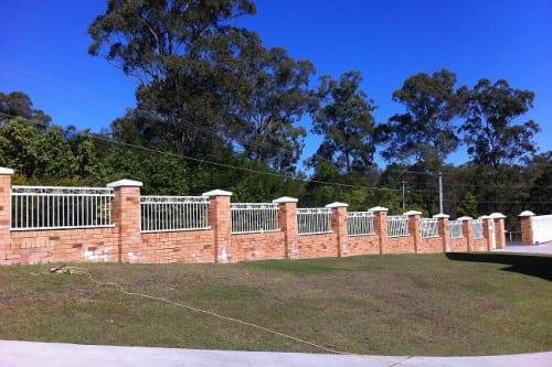 Brick and Aluminium fence Brisbane
