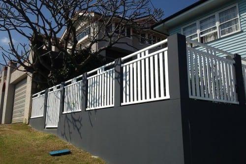 Brick and Aluminium Fence