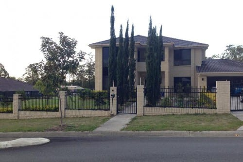 Large Steel House Fence