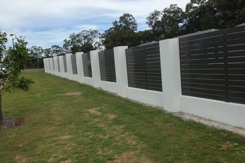 Brick and Aluminium pier fence