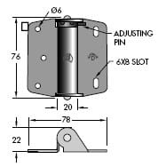 Spring Loaded Gate Hinge - Zinc plated - Stainless Steel