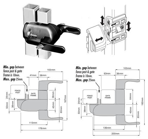 Z-Lokk - Magnetic Gate Lock