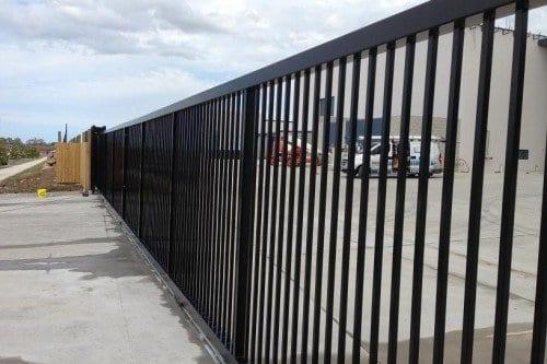 Black commercial gates at commercial premises